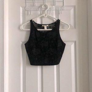 Sexy Simple Black Crop Top